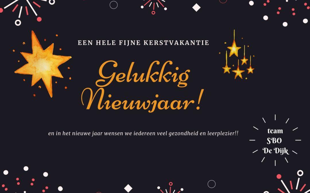 Fijne vakantie en een goed nieuw jaar!!